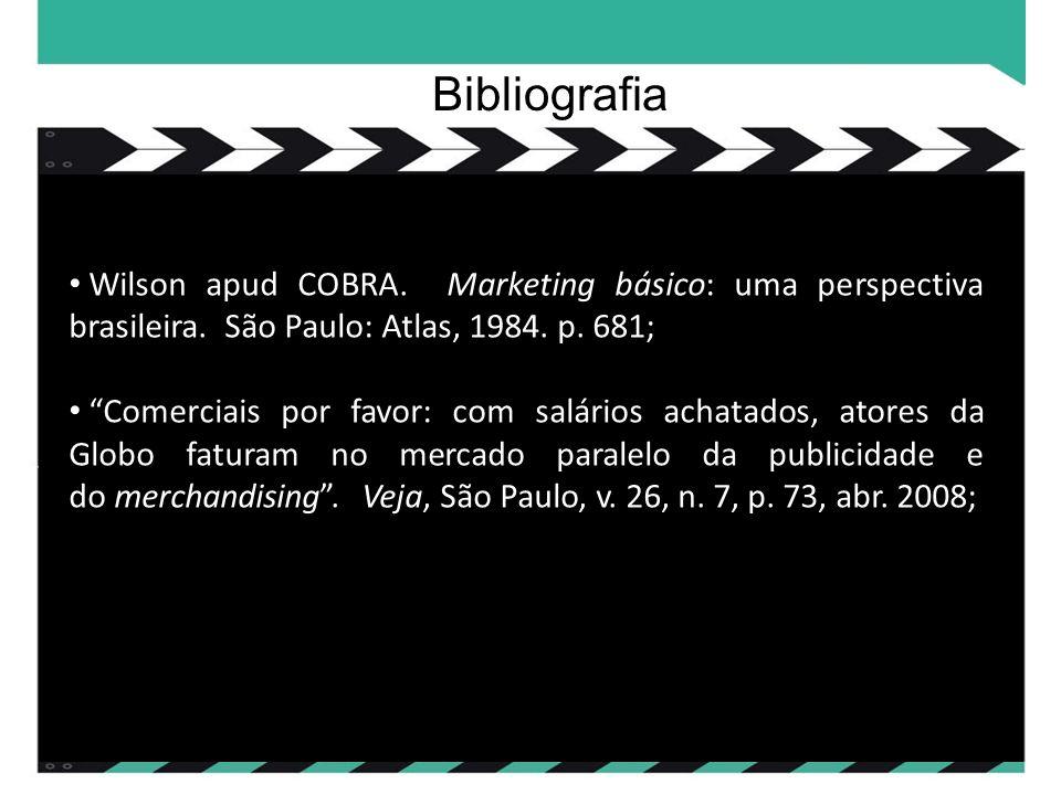 Wilson apud COBRA. Marketing básico: uma perspectiva brasileira.