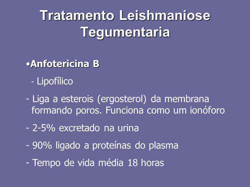 Anfotericina BAnfotericina B - Lipofílico - Liga a esterois (ergosterol) da membrana formando poros. Funciona como um ionóforo - 2-5% excretado na uri