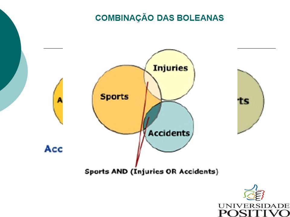 COMBINAÇÃO DAS BOLEANAS