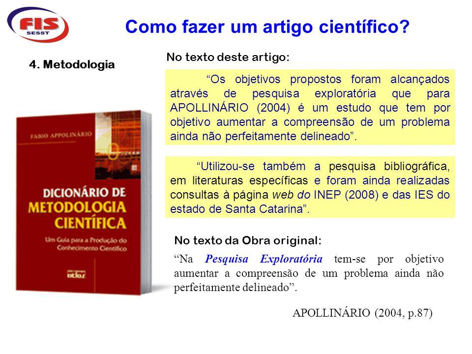 5.Gestão do Conhecimento da Sustentabilidade Como fazer um artigo científico.