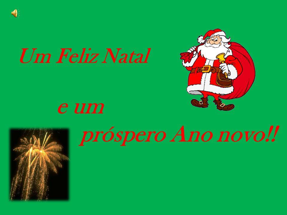 Um Feliz Natal e um próspero Ano novo!!