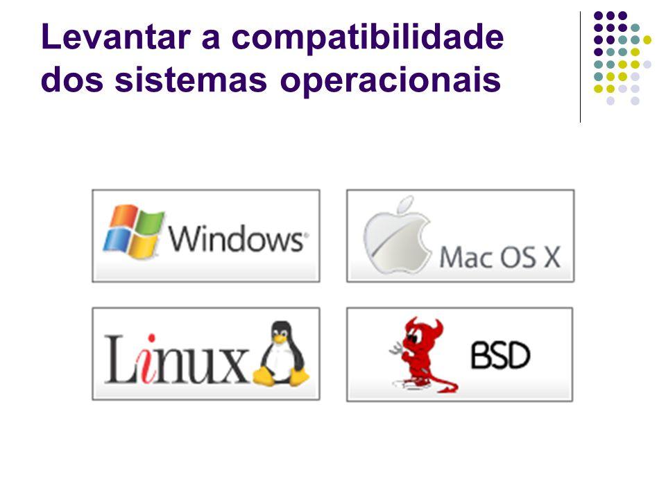 Levantar a compatibilidade dos sistemas operacionais