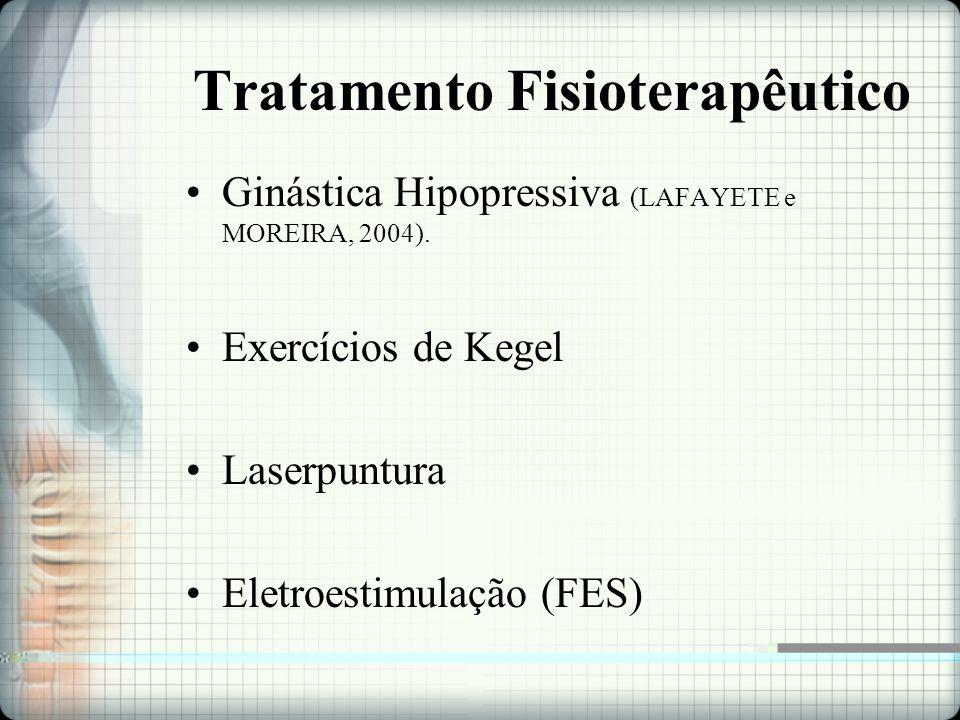 Tratamento Fisioterapêutico Ginástica Hipopressiva (LAFAYETE e MOREIRA, 2004).