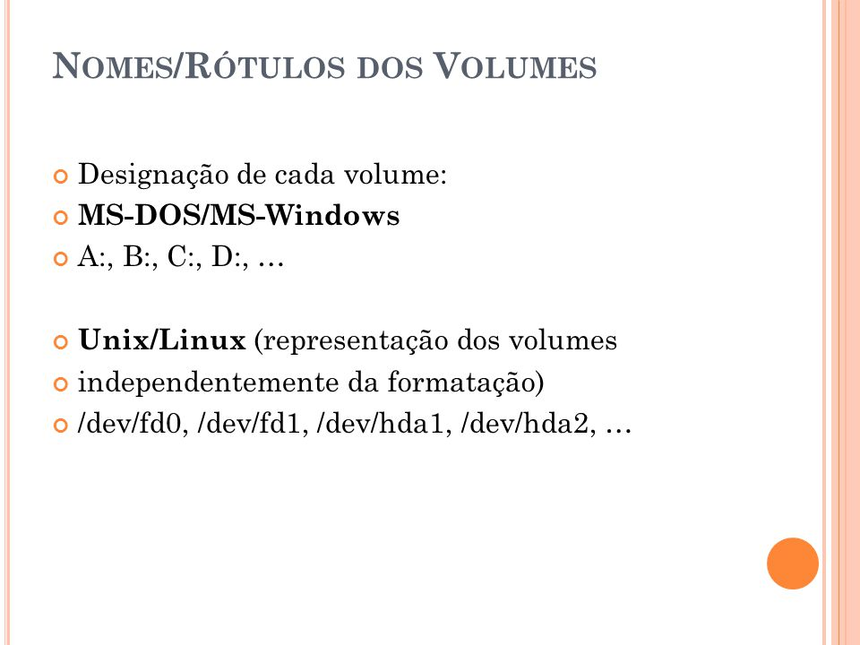 P ARTICIONAMENTO – COMANDOS L INUX Para particionar um disco adicionado: Pode-se utilizar: fdisk ou cfdisk Exemplo utilizando utilitário cfdisk: cfdisk /dev/hda cfdisk /dev/hdb