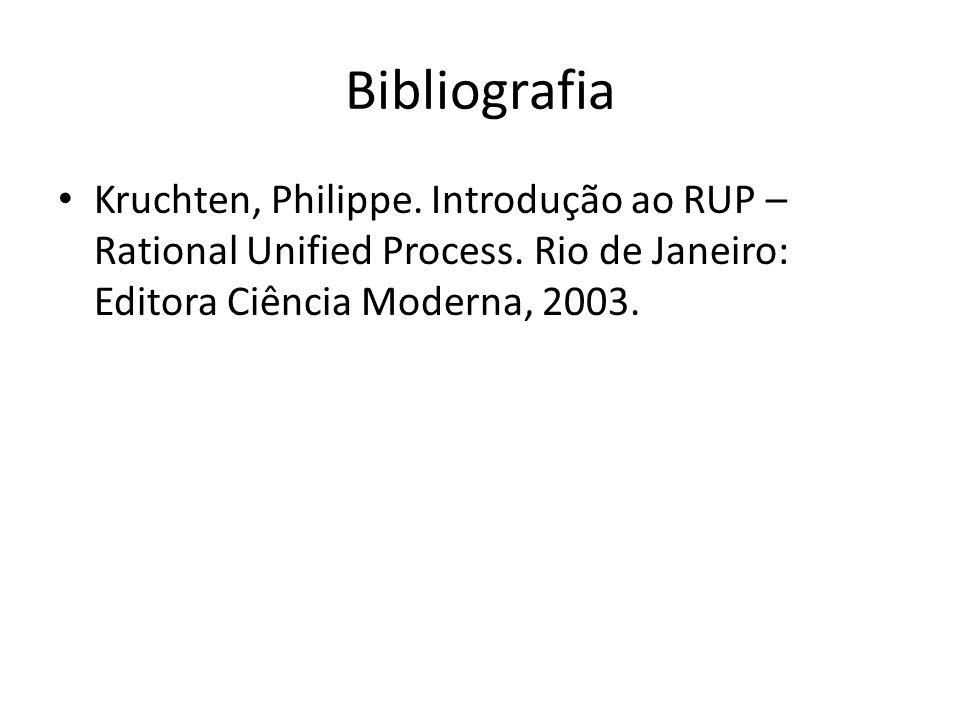 Bibliografia Kruchten, Philippe.Introdução ao RUP – Rational Unified Process.