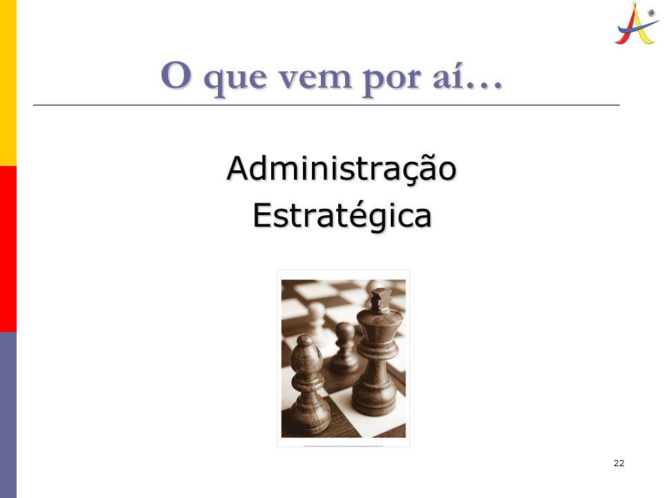 22 O que vem por aí… AdministraçãoEstratégica