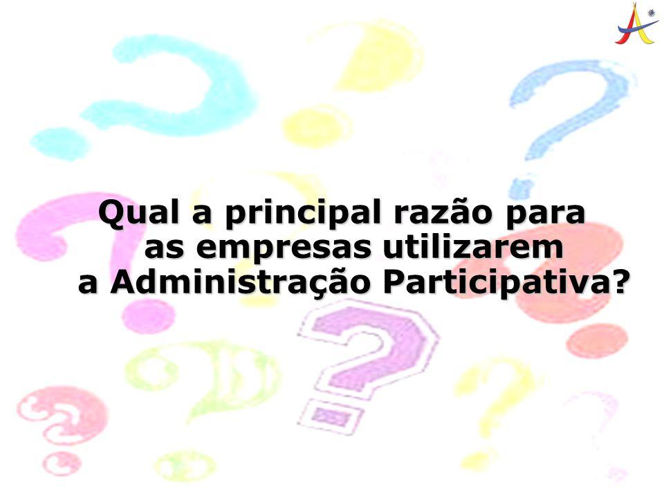 4 Qual a principal razão para as empresas utilizarem a Administração Participativa?