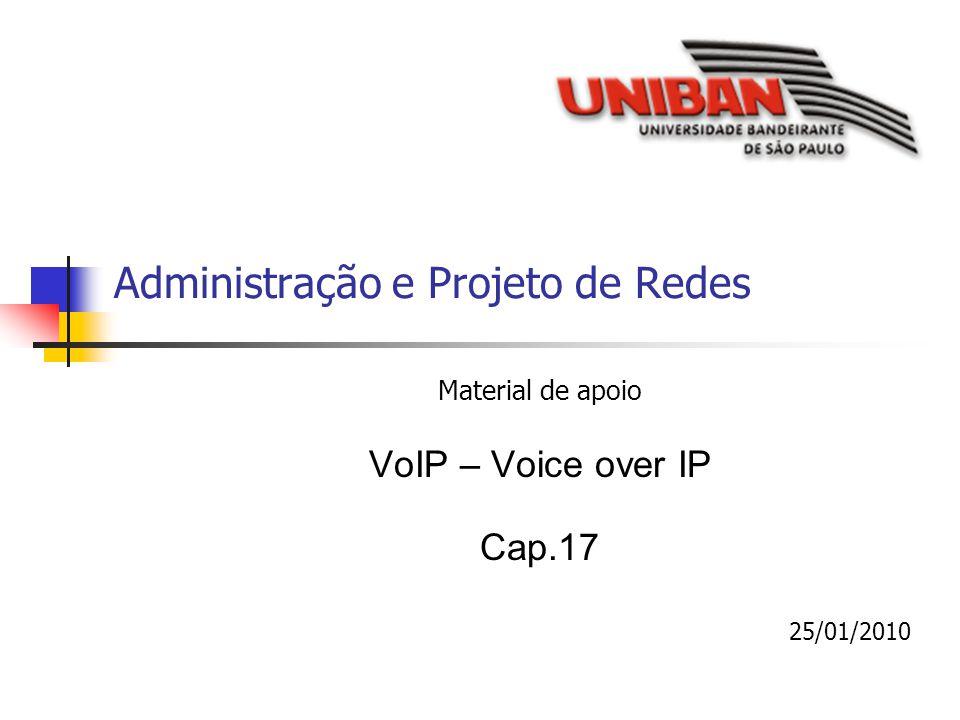 Administração e Projeto de Redes Material de apoio VoIP – Voice over IP Cap.17 25/01/2010
