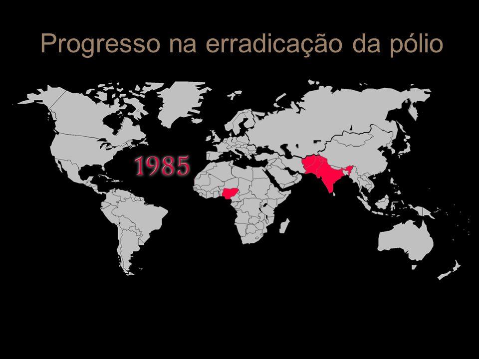Casos de pólio em 31/12/2008