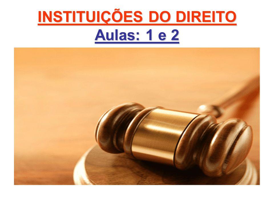 INSTITUIÇÕES DO DIREITO PLANO DE ENSINO PORTAL UNIVERSITÁRIO http://www.unipacvaledoaco.com.br