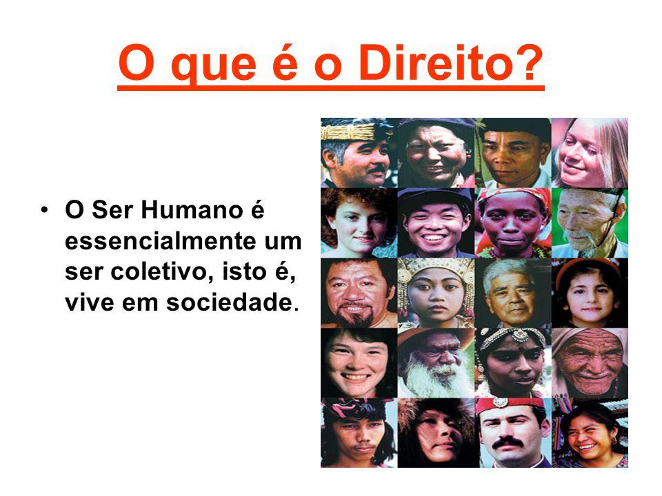 O Ser Humano é essencialmente um ser coletivo, isto é, vive em sociedade.