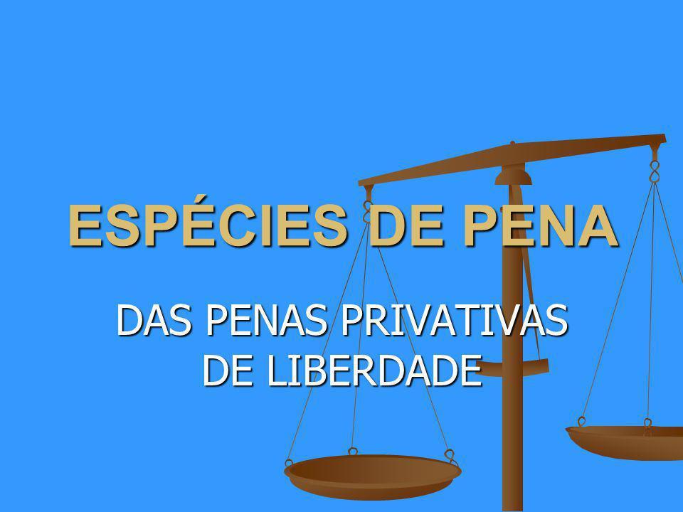 ESPÉCIES DE PENA DAS PENAS PRIVATIVAS DE LIBERDADE
