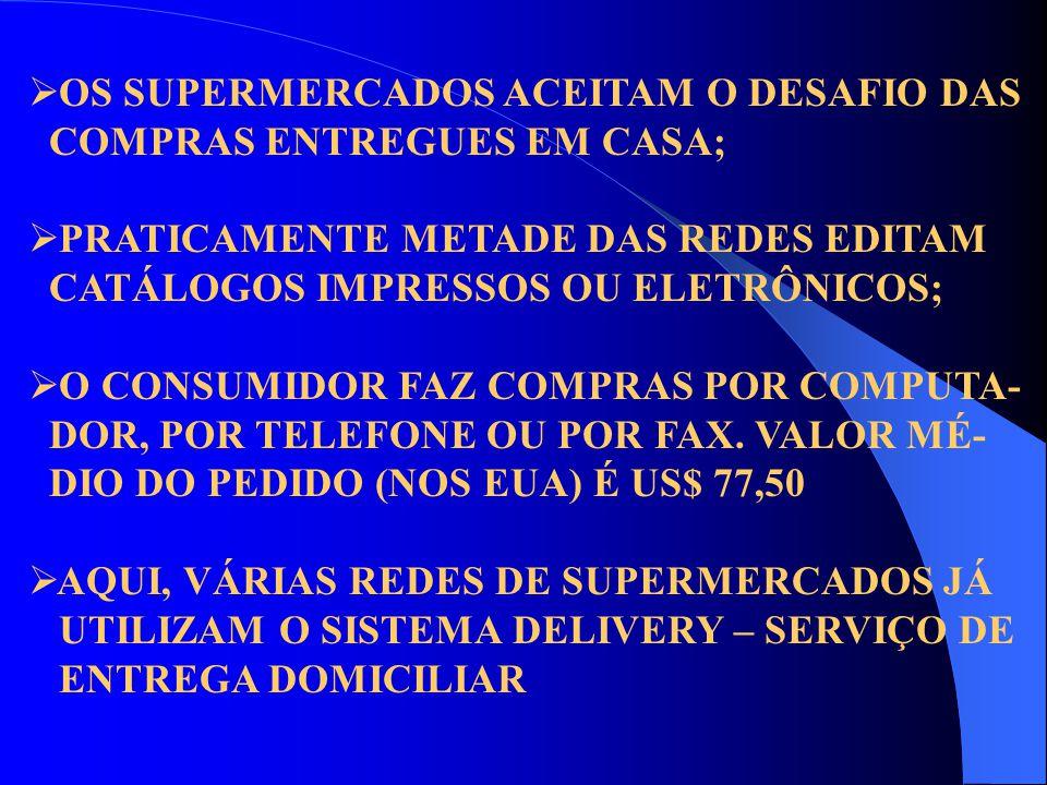  OS SUPERMERCADOS ACEITAM O DESAFIO DAS COMPRAS ENTREGUES EM CASA;  PRATICAMENTE METADE DAS REDES EDITAM CATÁLOGOS IMPRESSOS OU ELETRÔNICOS;  O CON