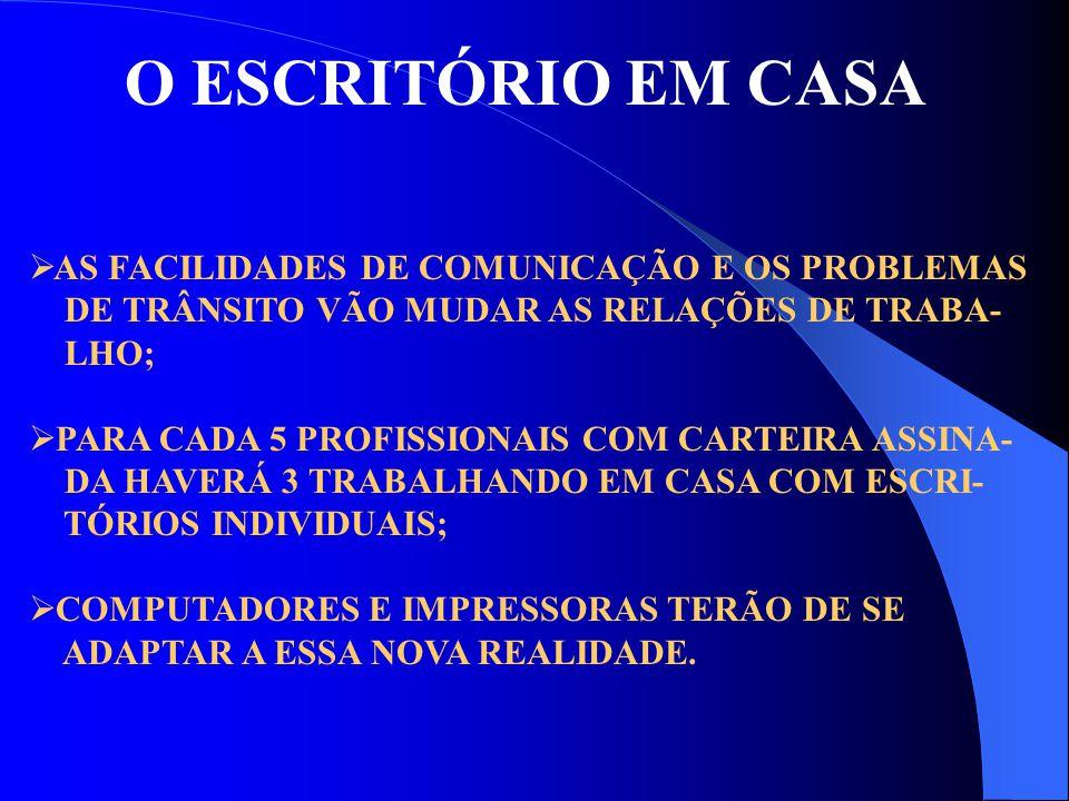 A PROPAGAÇÃO DO BATOM  A PARTICIPAÇÃO DA MULHER NO MERCADO DE TRABALHO CADA VEZ MAIOR;  A MULHER ABANDONARÁ A COORDENAÇÃO DO TRABALHO DOMÉSTICO;  PRODUTOS PRONTOS OU SEMI-PRONTOS TERÃO MAIS ESPAÇO NOS FREEZERS E NAS GELADEIRAS;  EMBALAGENS DESCARTÁVEIS SERÃO CADA VEZ MAIS UTILIZADAS.