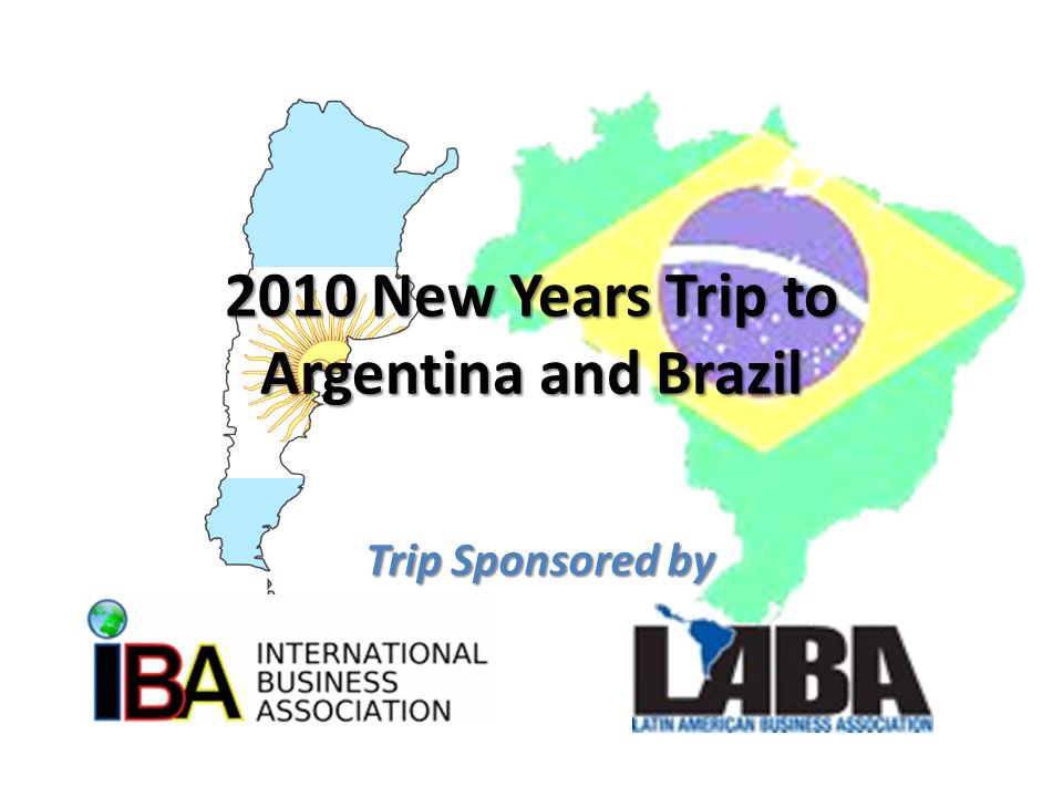 Trip Details  Offering the option of two trips –  10 Day/9 Night Trip to Argentina and Brazil  4 days / 3 nights in Argentina followed by 7 days / 6 nights in Brazil  7 Day/6 Night Trip to Brazil (only)  Argentina portion of the trip will explore Buenos Aries during Christmas time from December 24 th to 27 th  Argentina trip will then link up with the Brazil trip in Rio de Janeiro on December 27 th  Brazil portion will explore 2 diverse regions - Rio de Janeiro (Southeast) and Bahia (Northeast) – Trip dates - December 27 th to 30 th in Rio de Janeiro / December 30 th to January 2 nd in Bahia – Party during New Years on the beach at Arraial D ajuda in Bahia
