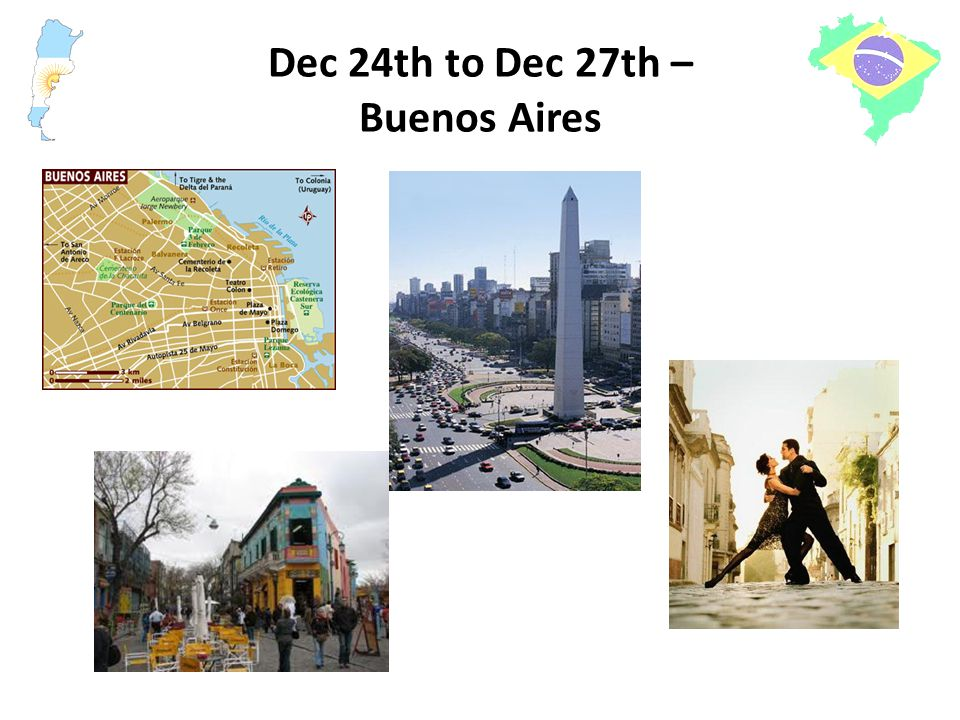 Dec 24th to Dec 27th – Buenos Aires
