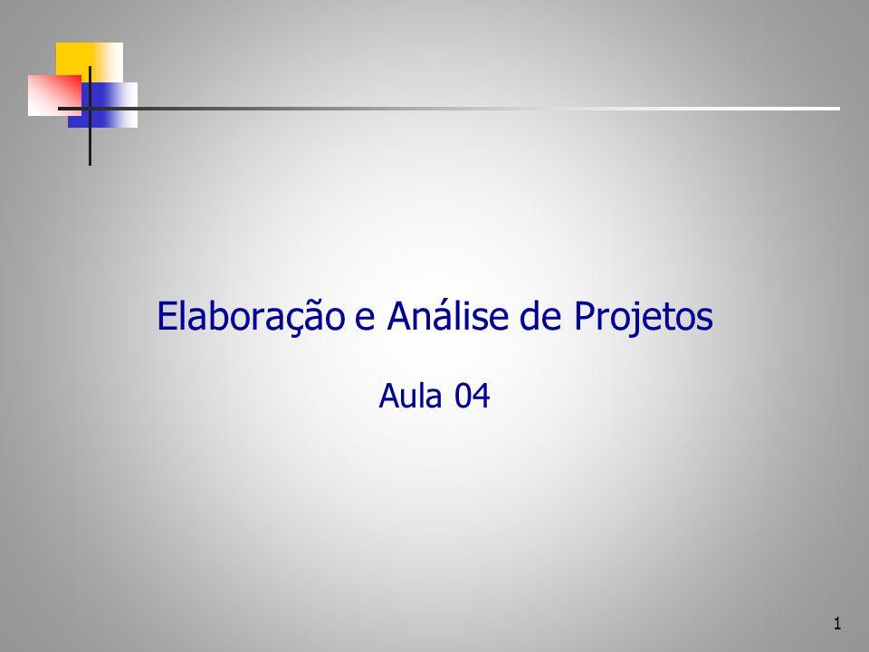 Elaboração e Análise de Projetos Aula 04 1