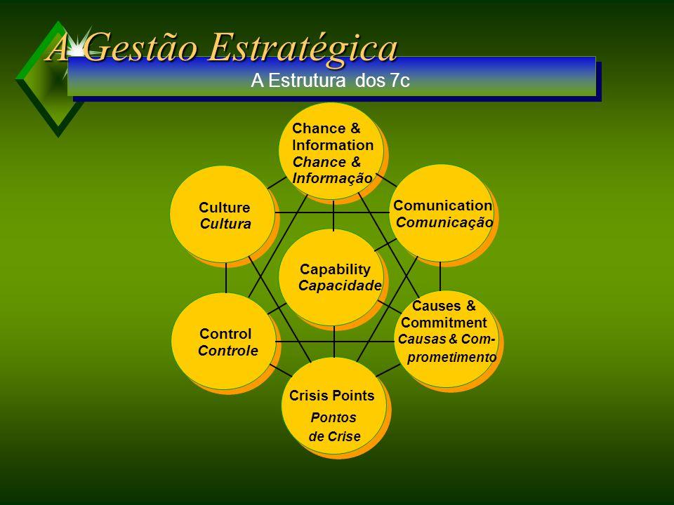 Structure Estrutura Systems Sistemas Shared Values Valores Compartilhados Skills Aptidões Strategy Estratégia Symbolic Behavior C omportamento Simbólico Staff A Estrutura dos 7s A Gestão Estratégica
