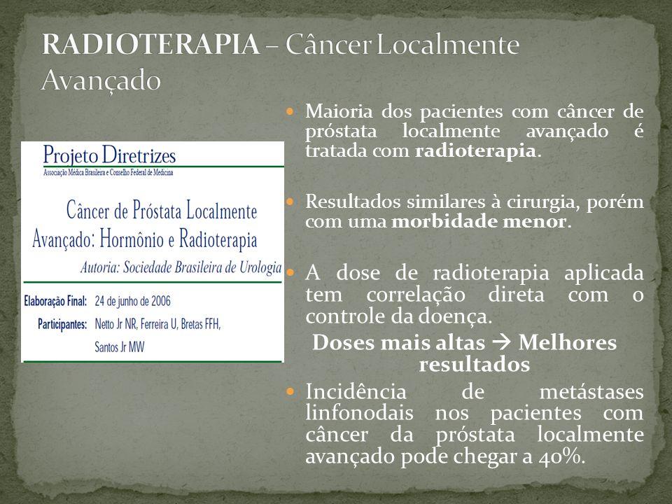 Maioria dos pacientes com câncer de próstata localmente avançado é tratada com radioterapia.