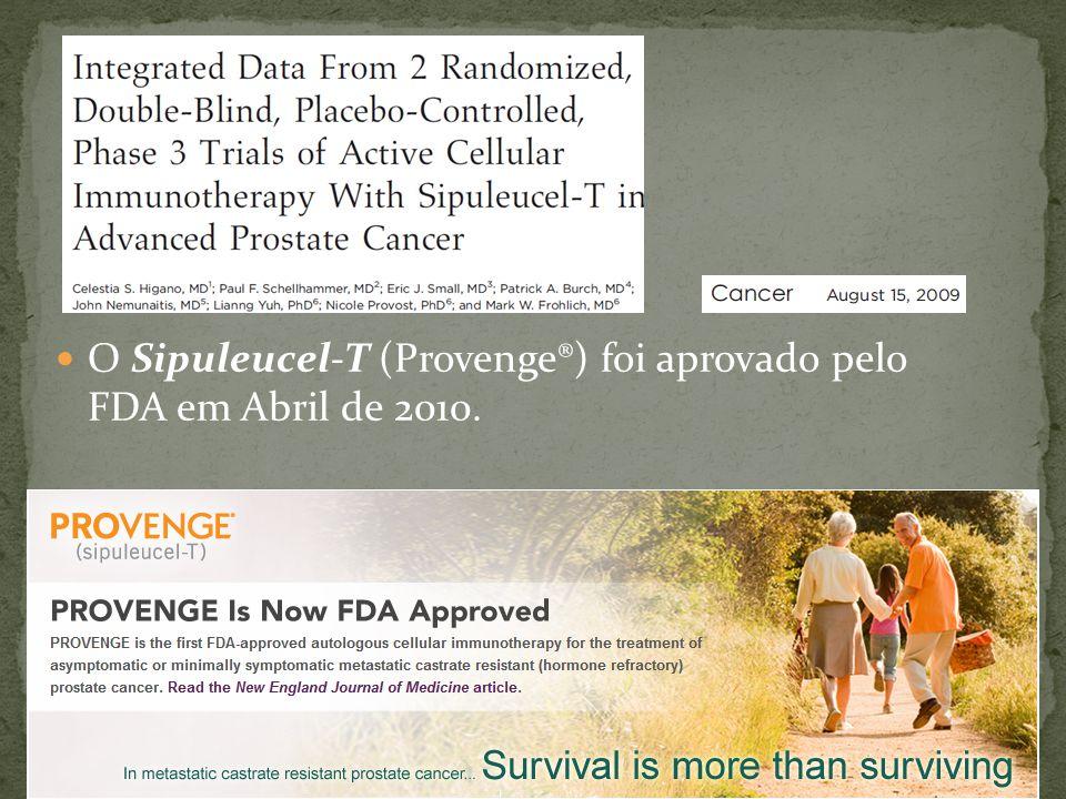 O Sipuleucel-T (Provenge®) foi aprovado pelo FDA em Abril de 2010.