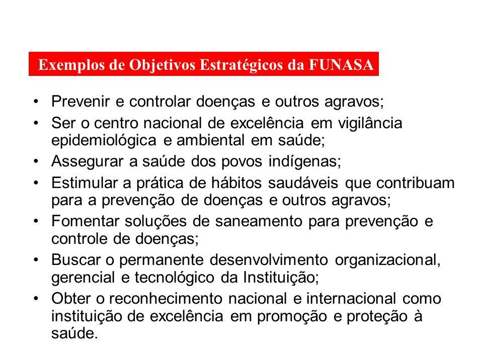 Prevenir e controlar doenças e outros agravos; Ser o centro nacional de excelência em vigilância epidemiológica e ambiental em saúde; Assegurar a saúd