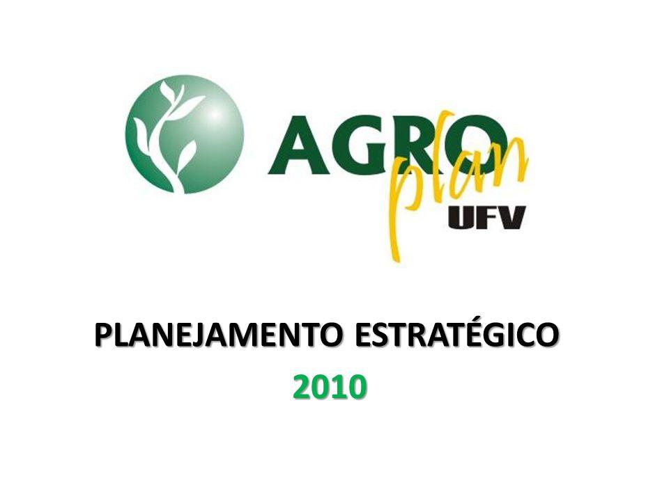 Promover a capacitação profissional de seus membros e dos estudantes do curso de agronomia da UFV a partir da prestação de serviços de qualidade contribuindo para o desenvolvimento da sociedade. Missão PLANEJAMENTO ESTRATÉGICO 2009