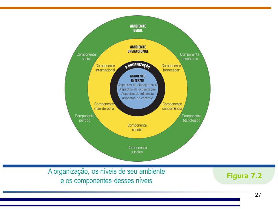 27 Figura 7.2 A organização, os níveis de seu ambiente e os componentes desses níveis.
