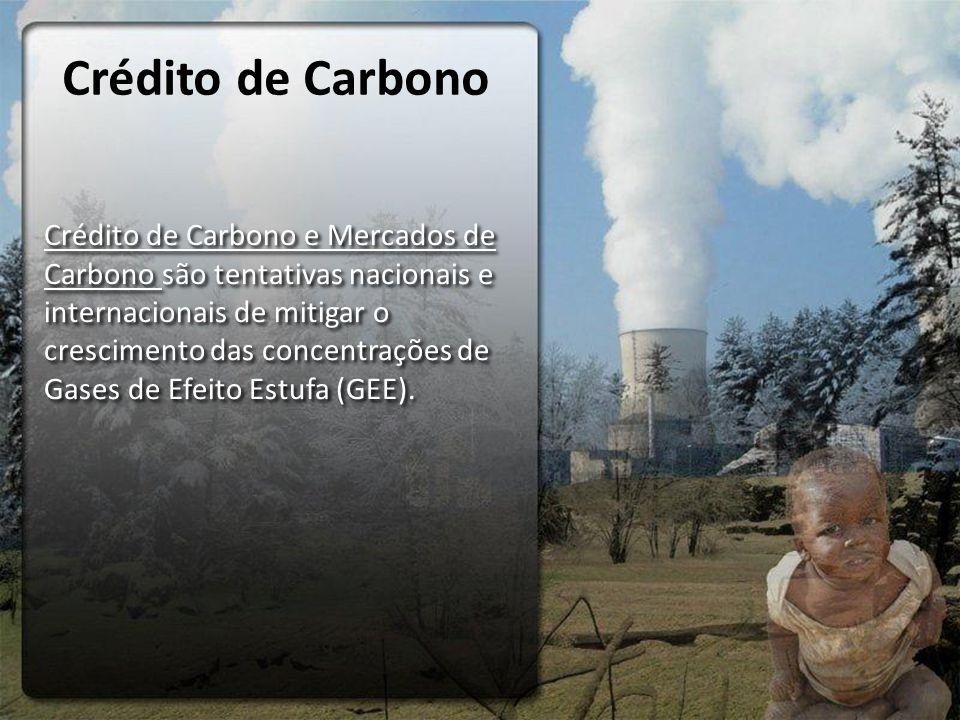 Crédito de Carbono Crédito de Carbono e Mercados de Carbono são tentativas nacionais e internacionais de mitigar o crescimento das concentrações de Ga