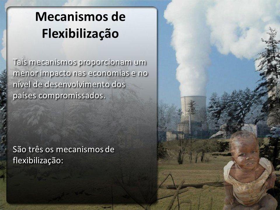 Mecanismos de Flexibilização Tais mecanismos proporcionam um menor impacto nas economias e no nível de desenvolvimento dos países compromissados. São
