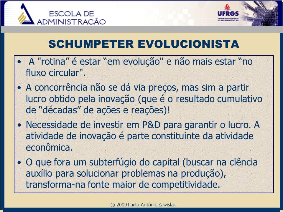 © 2009 Paulo Antônio Zawislak SCHUMPETER EVOLUCIONISTA A