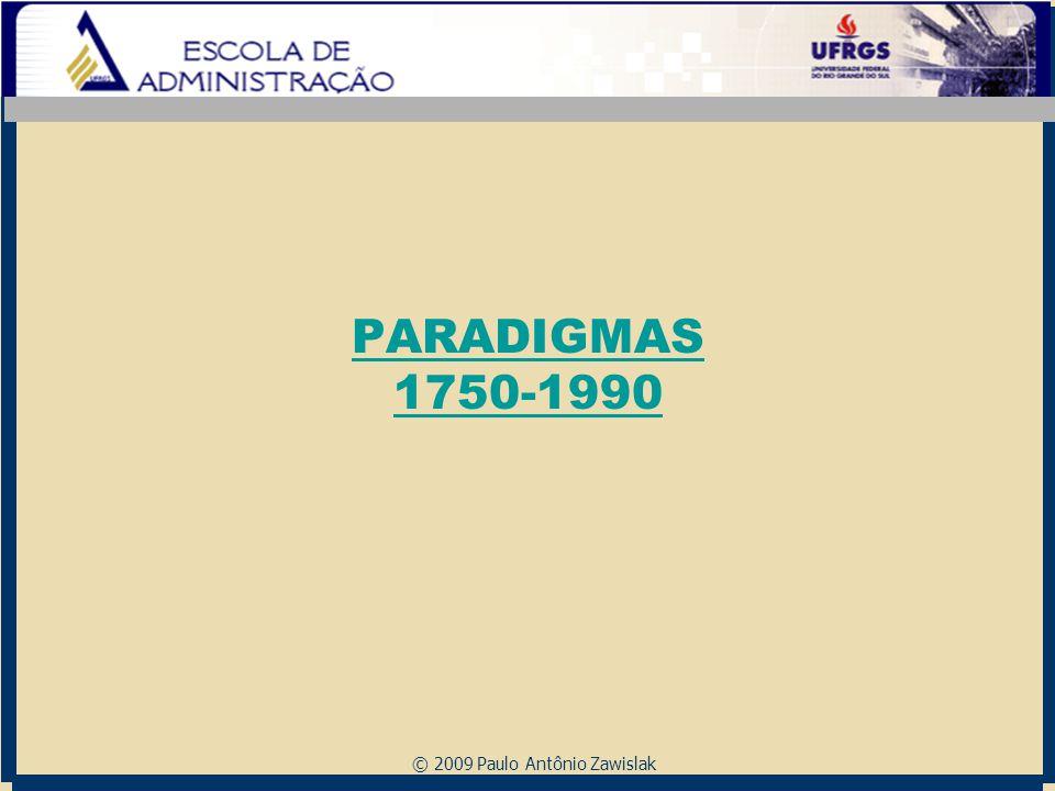 © 2009 Paulo Antônio Zawislak PARADIGMAS 1750-1990