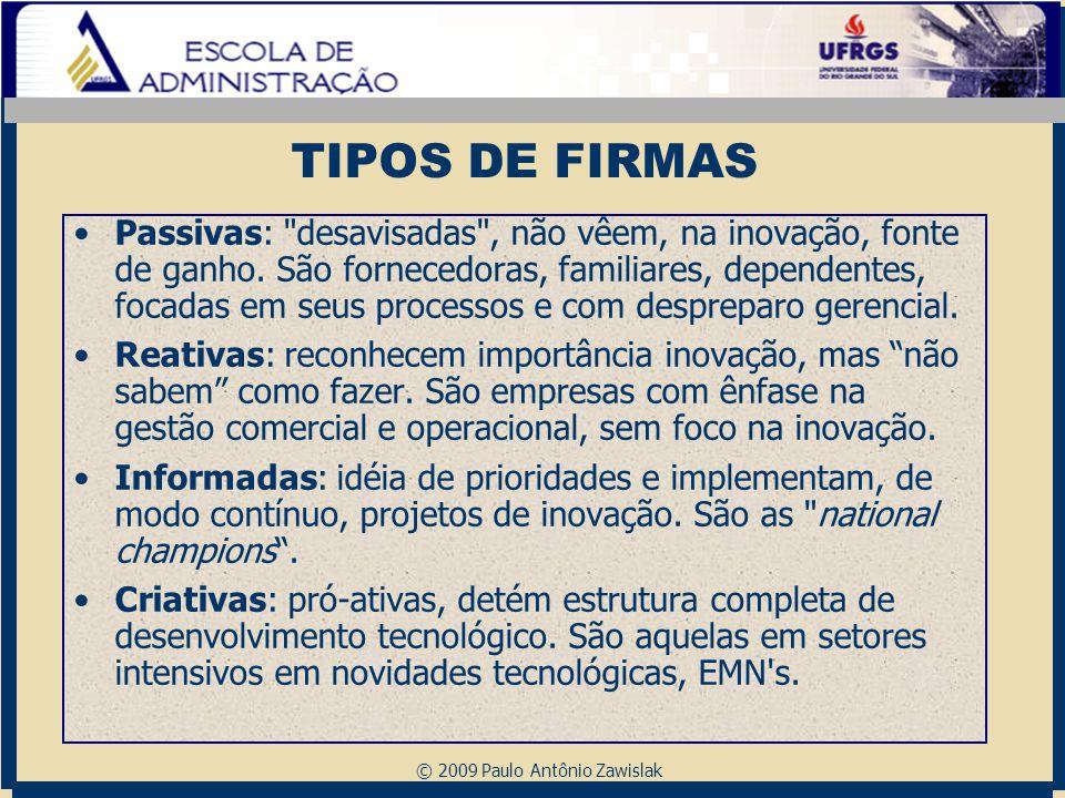 © 2009 Paulo Antônio Zawislak TIPOS DE FIRMAS Passivas: