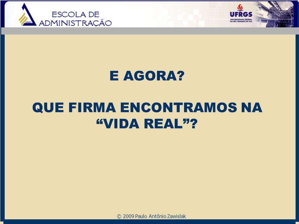 "© 2009 Paulo Antônio Zawislak E AGORA? QUE FIRMA ENCONTRAMOS NA ""VIDA REAL""?"