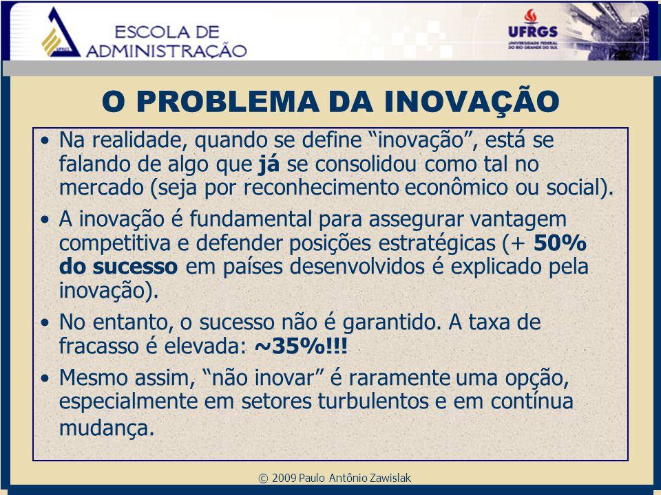"""© 2009 Paulo Antônio Zawislak O PROBLEMA DA INOVAÇÃO Na realidade, quando se define """"inovação"""", está se falando de algo que já se consolidou como tal"""