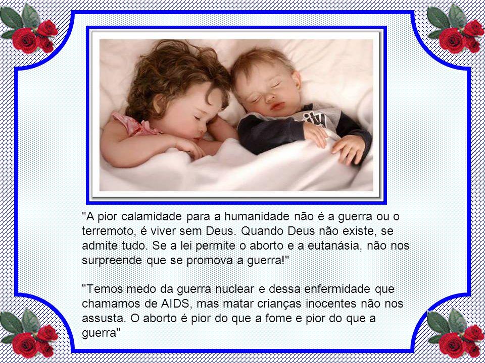 A CRIANÇA - VIDA A criança é o presente de Deus à família. Cada criança é criada na imagem especial e semelhança de Deus por maiores coisas - amar e s