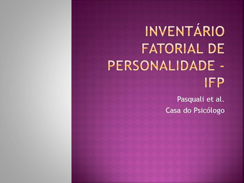 Pasquali et al. Casa do Psicólogo