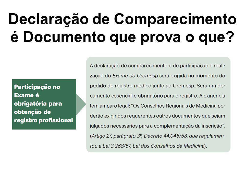 Declaração de Comparecimento é Documento que prova o que?