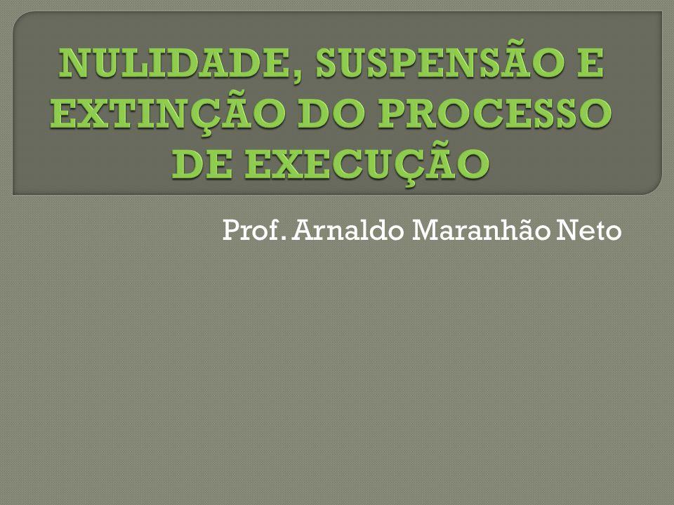 NULIDADE DO PROCESSO DE EXECUÇÃO  Art.618.