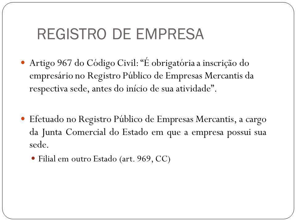 ÓRGÃOS DE REGISTRO O Sistema Nacional de Registro Mercantil (SINREM) é composto pelos seguintes órgãos: 1) Departamento Nacional do Registro do Comércio (DNRC), na esfera federal, ligado ao Ministério do Desenvolvimento, Indústria e Comércio Exterior; 2) Juntas Comerciais, na esfera estadual.