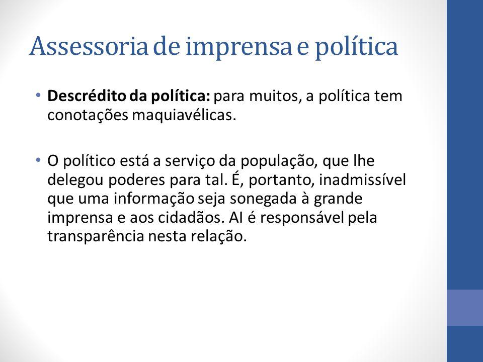 Descrédito da política: para muitos, a política tem conotações maquiavélicas.