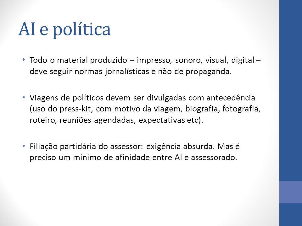 Todo o material produzido – impresso, sonoro, visual, digital – deve seguir normas jornalísticas e não de propaganda.