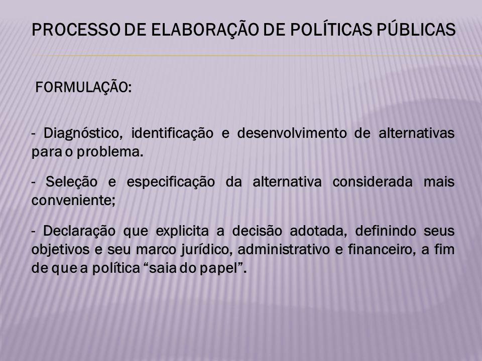 Aplicação da política pela máquina burocrática de Governo.