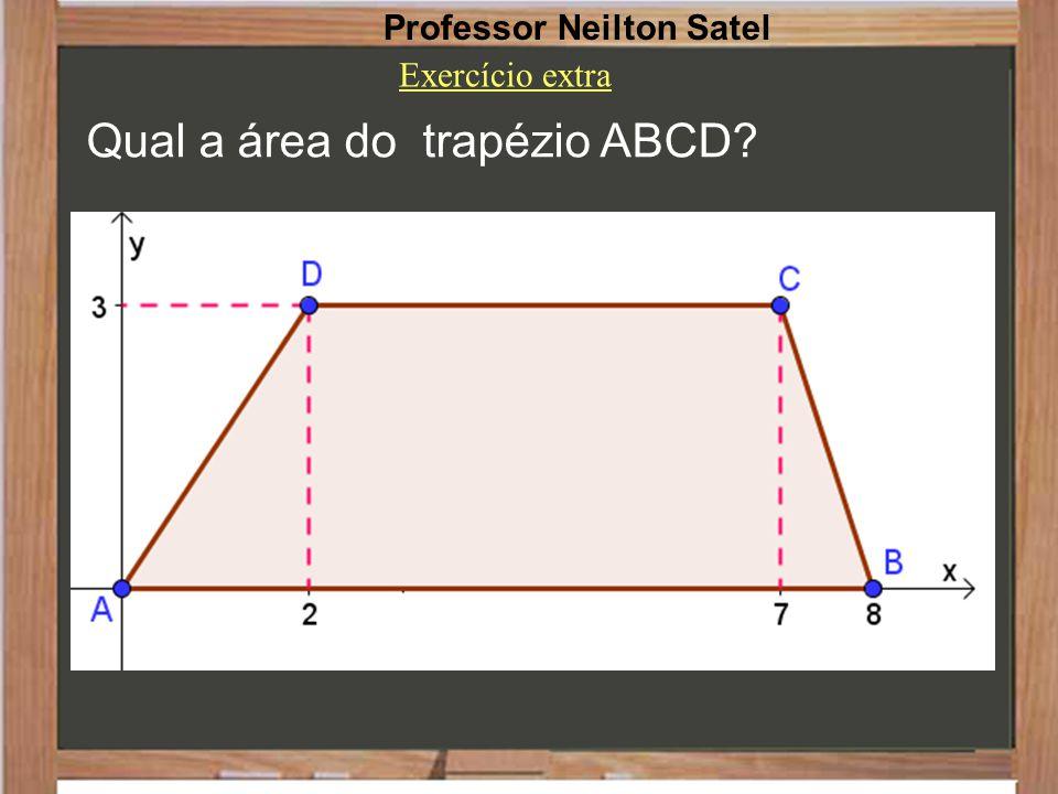 Qual a área do trapézio ABCD? Professor Neilton Satel Exercício extra