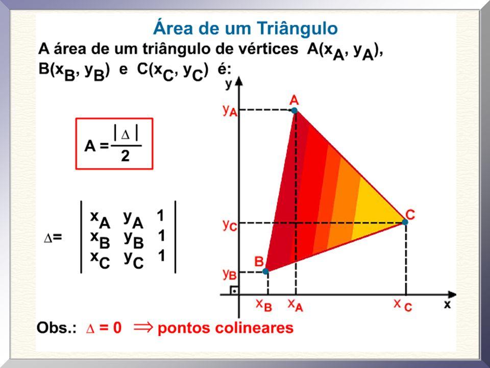 Exercícios Resolvidos 01. Calcule a área do triângulo ABC formado pelos pontos indicados na figura.