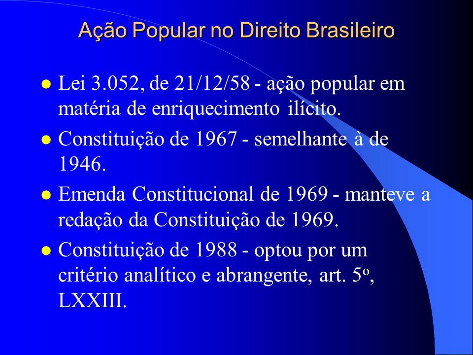 Ação Popular no Direito brasileiro l Primeira menção - Constituição de 1934.