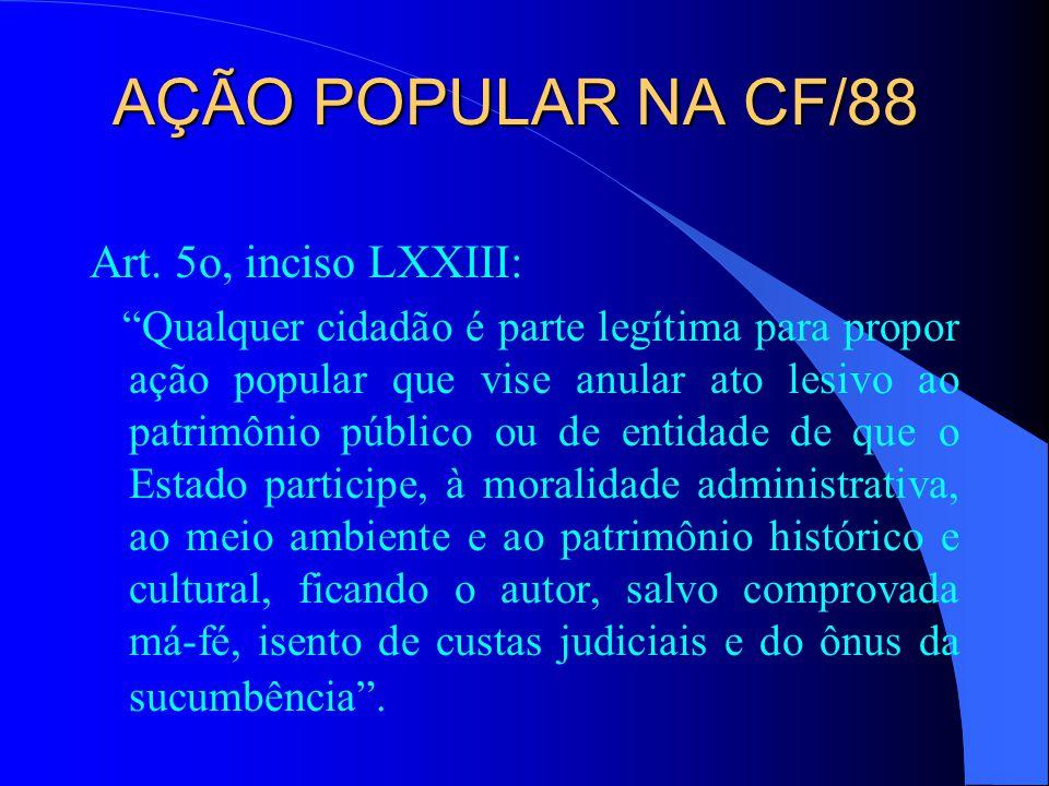 Ação Popular no Direito Brasileiro l Lei 3.052, de 21/12/58 - ação popular em matéria de enriquecimento ilícito.