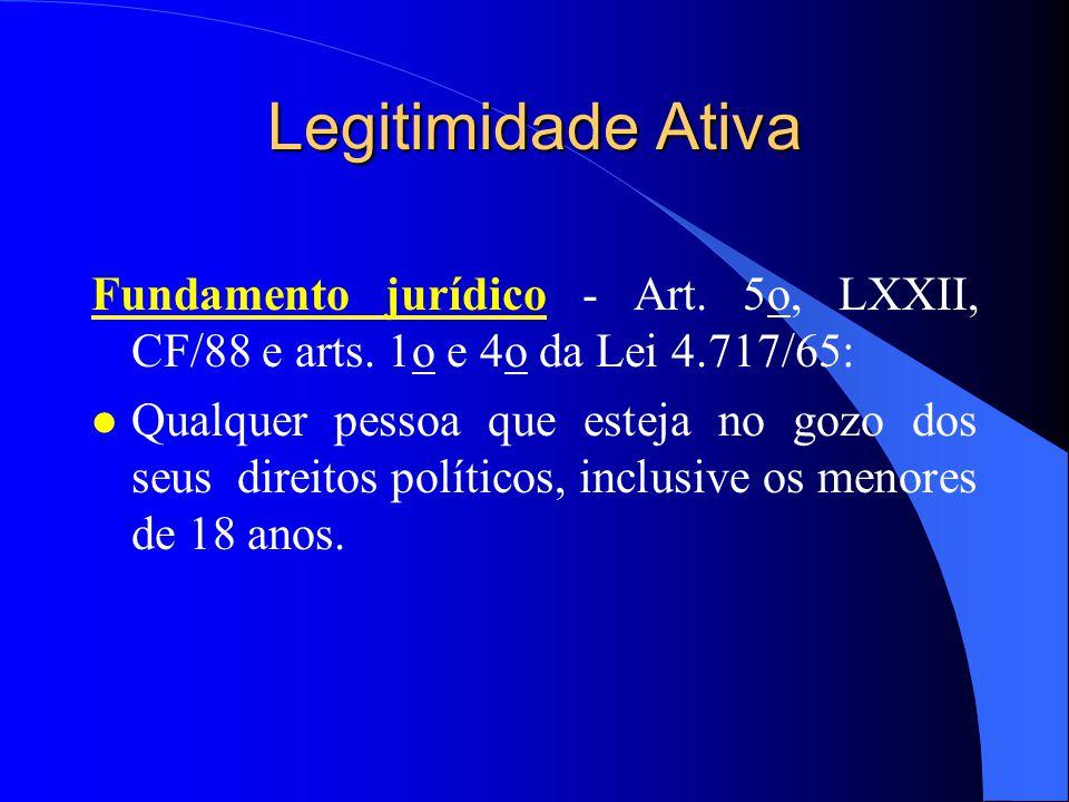 Legitimação para Agir Legitimidade ativa e passiva