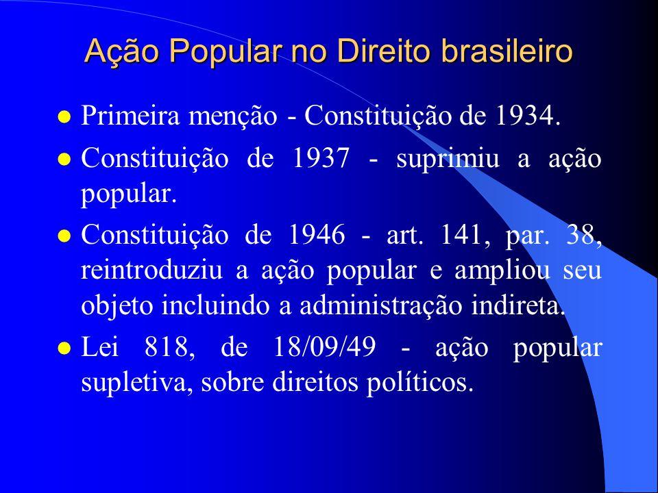 Ação Popular no Direito Brasileiro