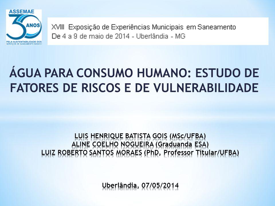 ÁGUA PARA CONSUMO HUMANO: ESTUDO DE FATORES DE RISCOS E DE VULNERABILIDADE