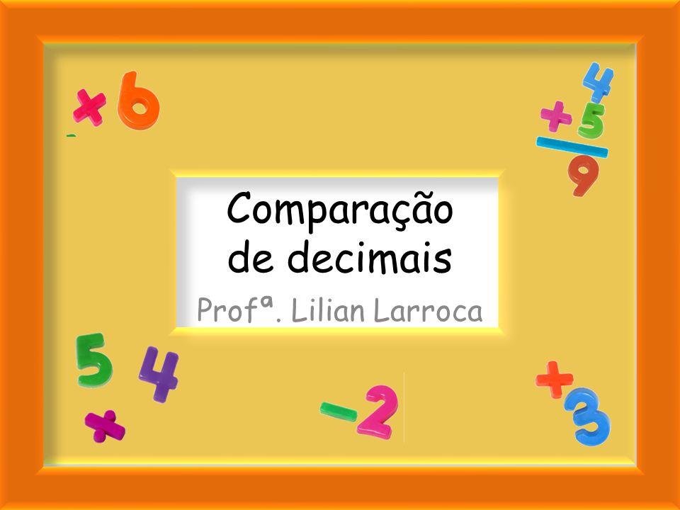 U,dcm dcm 4,221 212 Profª. Lilian Larroca Portanto, podemos dizer que 4,221 > 4,212